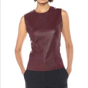 NWT Theory Lamb Leather Modern Shell